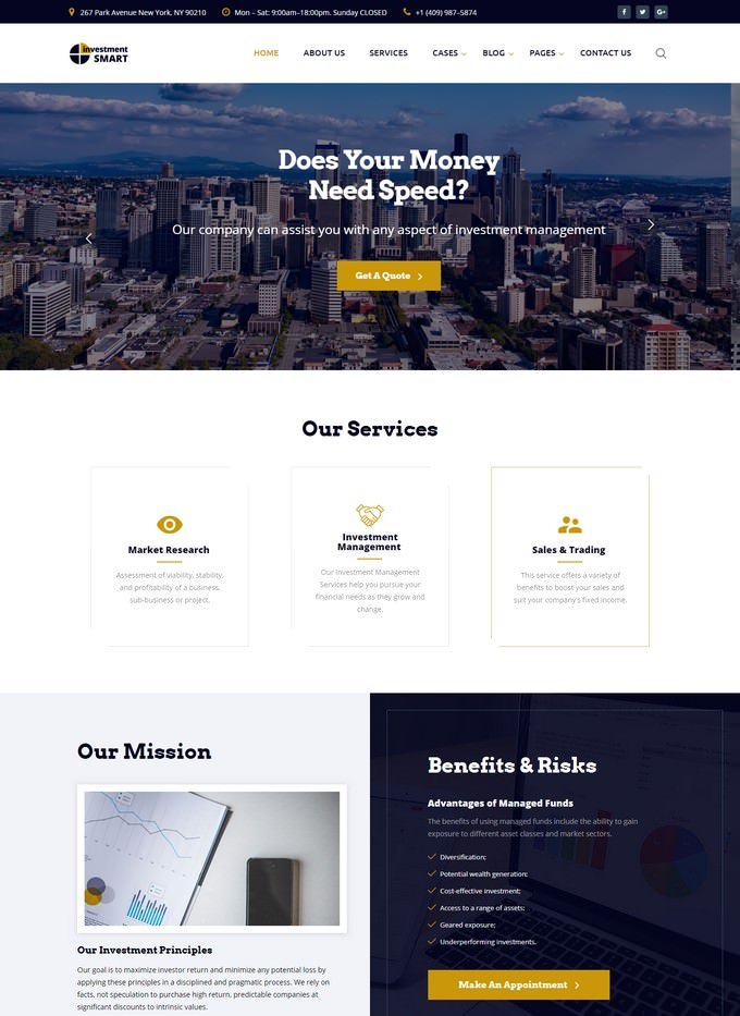 Smart Investment - Mortgage HTML Website Template