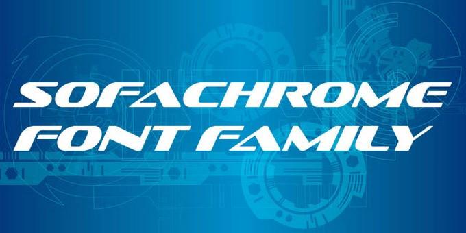 Sofachrome Techno Font