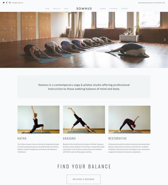 Somnus - Yoga & Fitness Studio Template
