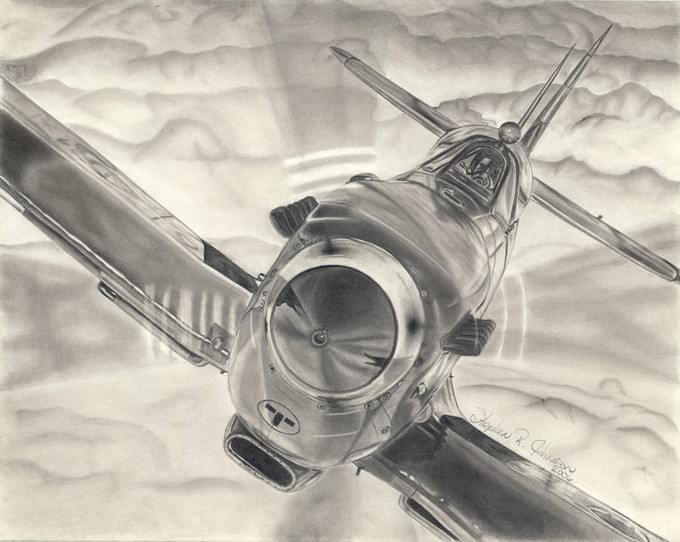 Spitfire Airplane Drawing Download
