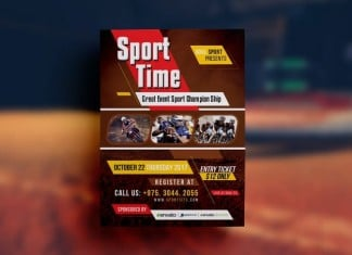 Sport Event Flyer Template