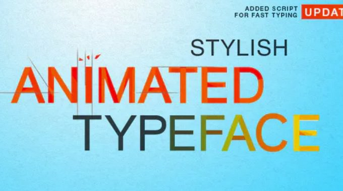 Stylish Animated Typeface