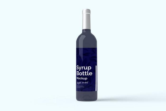 Syrup Bottle Mockup