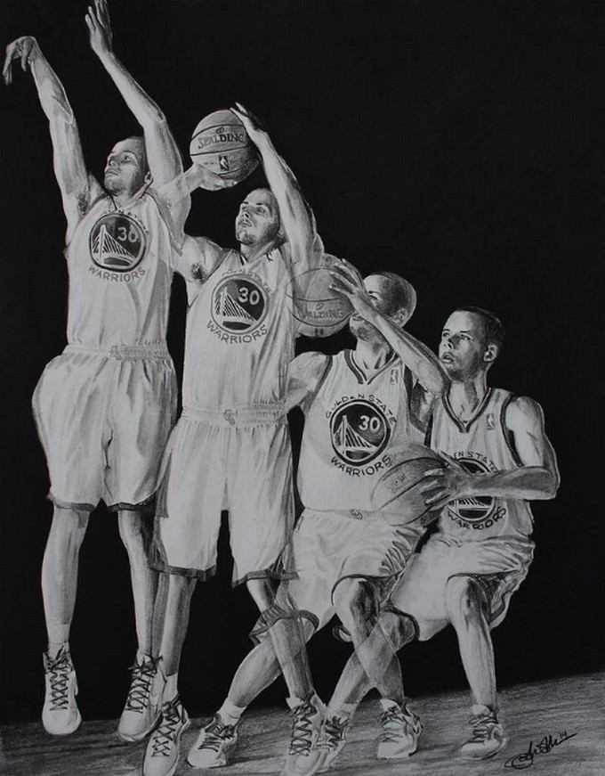 The Human Torch Basketball Drawing