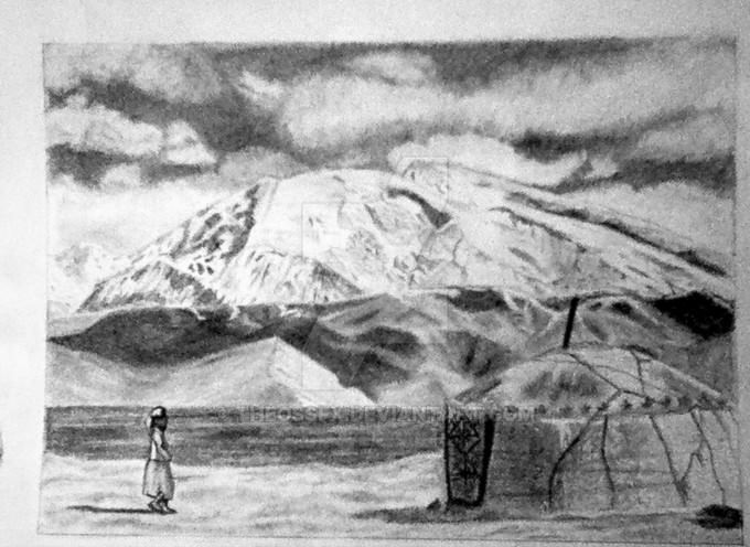Tibetan Mountain Drawing