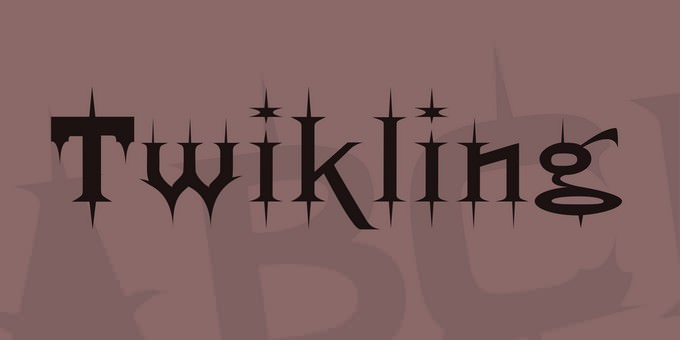 Twikling Style Viking Font