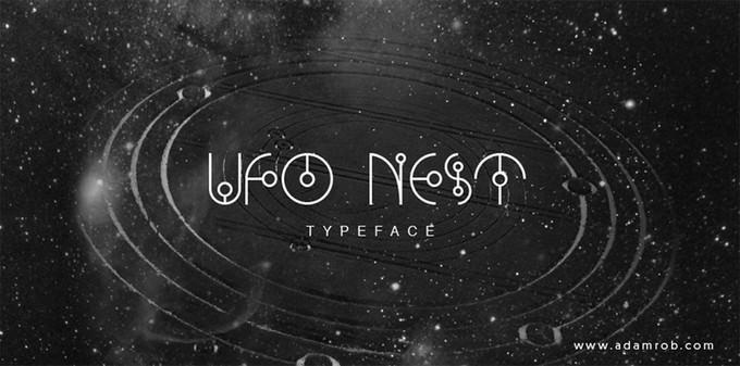 Ufo Nest Techno Font