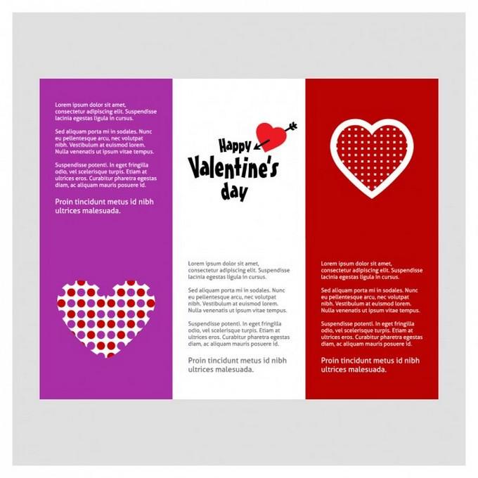 Valentine Brochure Template