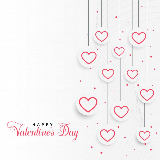 Valentines Day Background With Hangiong Heart