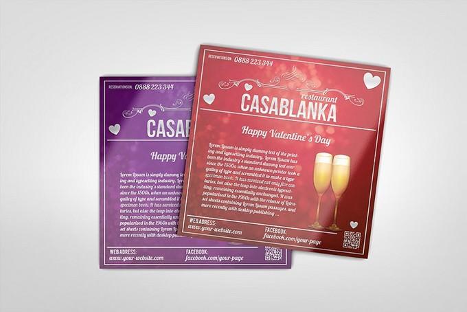 Valentine's day square brochure