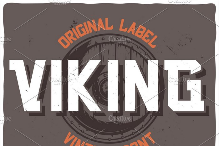 Vintage Label Typeface Viking
