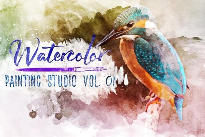 Watercolor Painting Studio Vol. 01