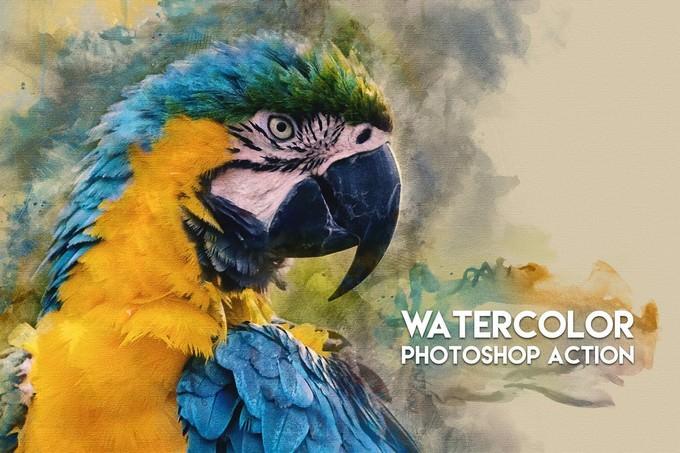 Watercolor Photoshop Action # 2