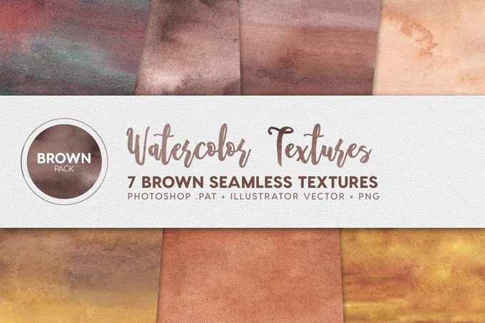 Watercolor Seamless Textures Brown