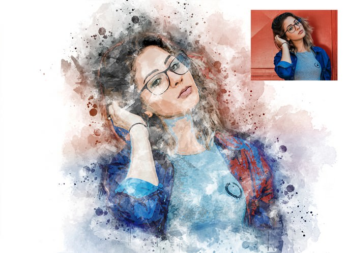 Watercolor Splashes - Photoshop Action