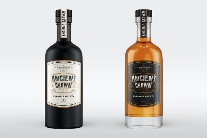 Whiskey Bottle Mock-Up