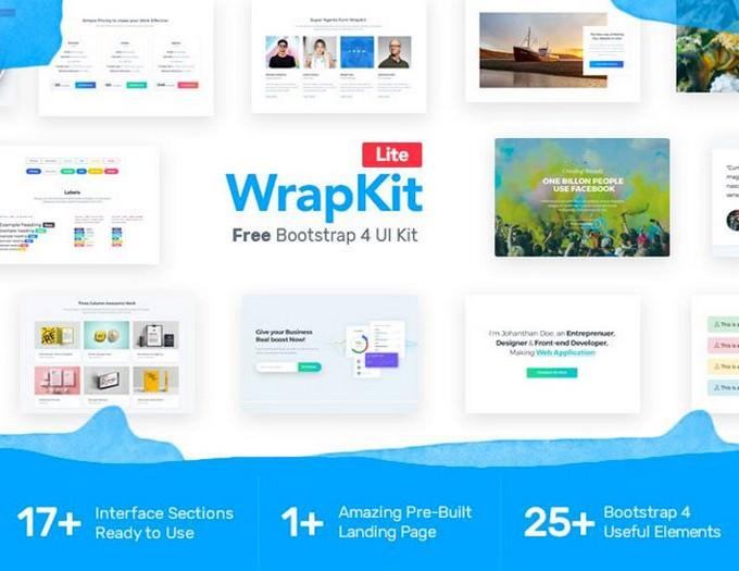 WrapKit Lite Free Bootstrap 4 UI Kit