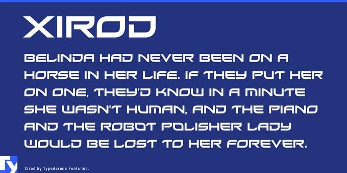 Xirod Techno Font
