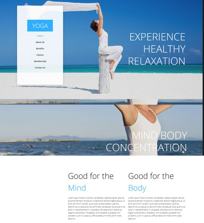 Yoga – One Page Multi-Purpose Muse