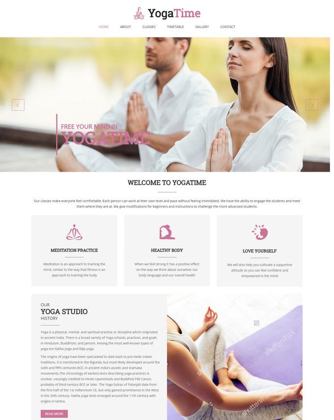 YogaTime - Onepage HTML Template