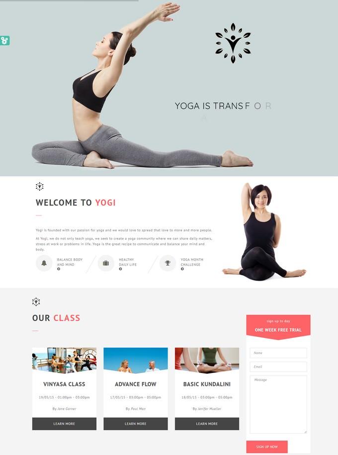 Yogi - Health Beauty & Yoga HTML Template