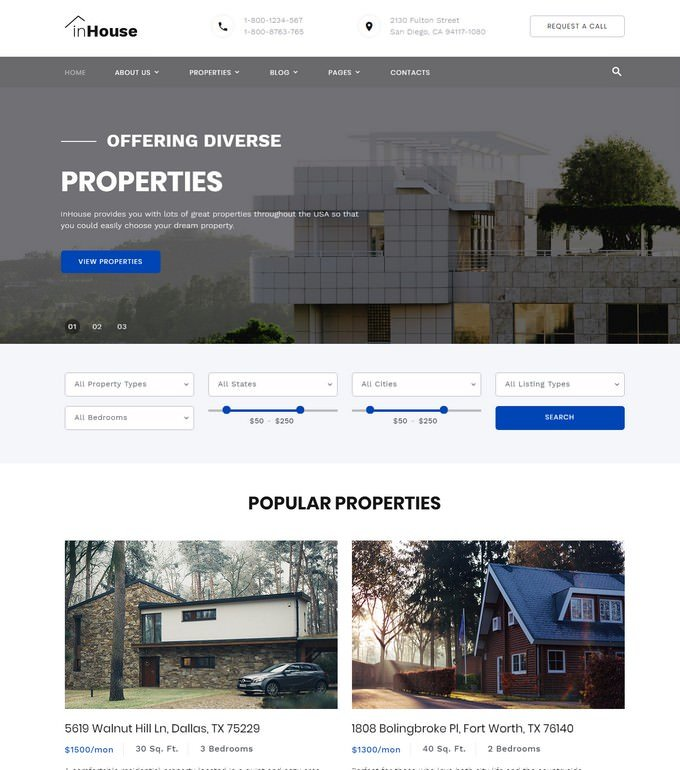 inHouse - Mortgage HTML Website Template