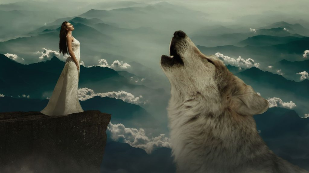 Girl And Wolf Wallpaper-0018-1920 × 1080