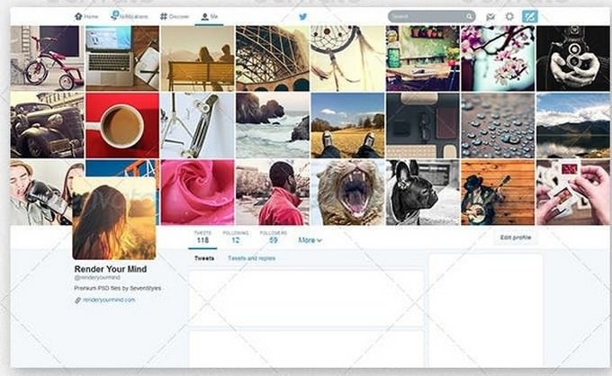 Twitter Profile Cover Templates