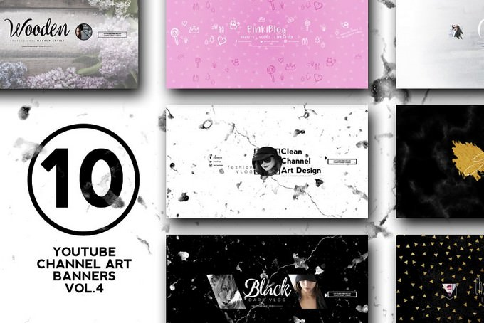 Youtube Channel Art Banners vol.4