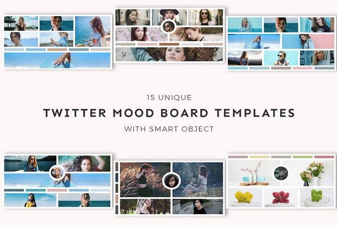 Twitter Mood Board Templates