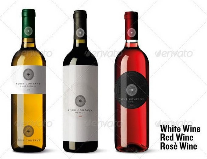 Withe, Red, Rose Bottle PSD