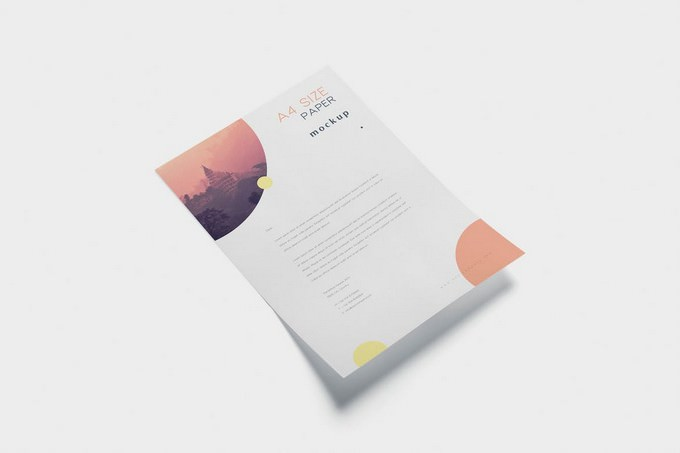5 A4 Size Paper Mockups