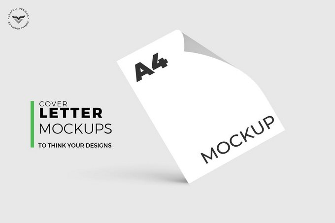 A4 Cover Paper Mockups