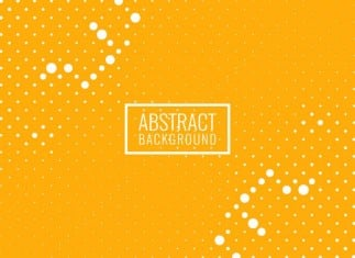 Abstract Bright Yellow Halftone Background