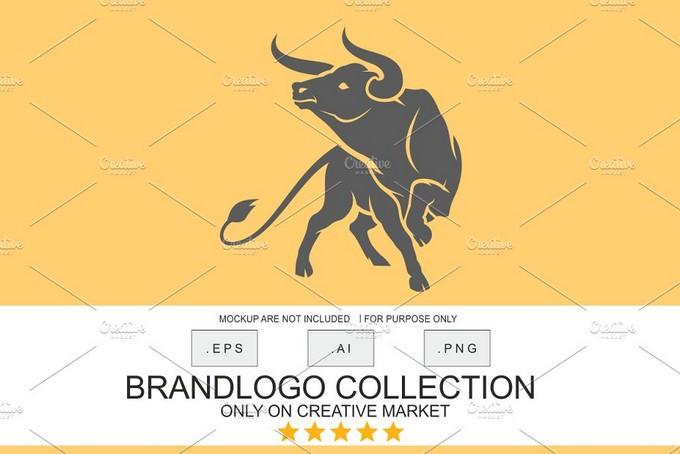 Angry Bull Logo Template