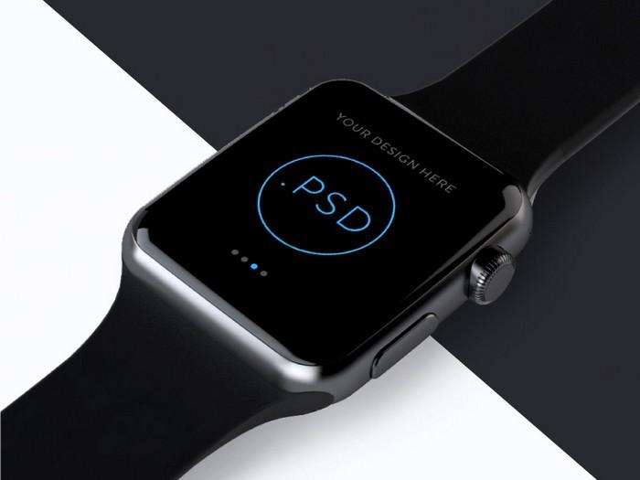 Apple Watch Free Mockup PSD Ver 2