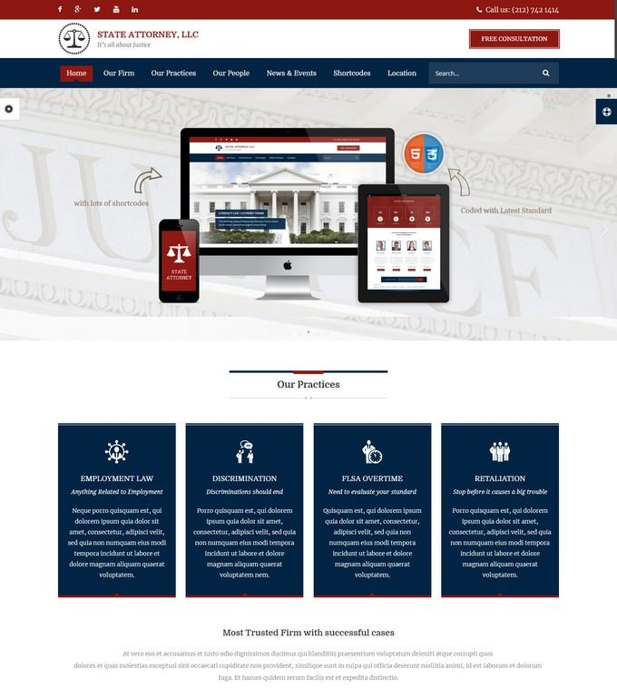 Law Lawyers HTML Template