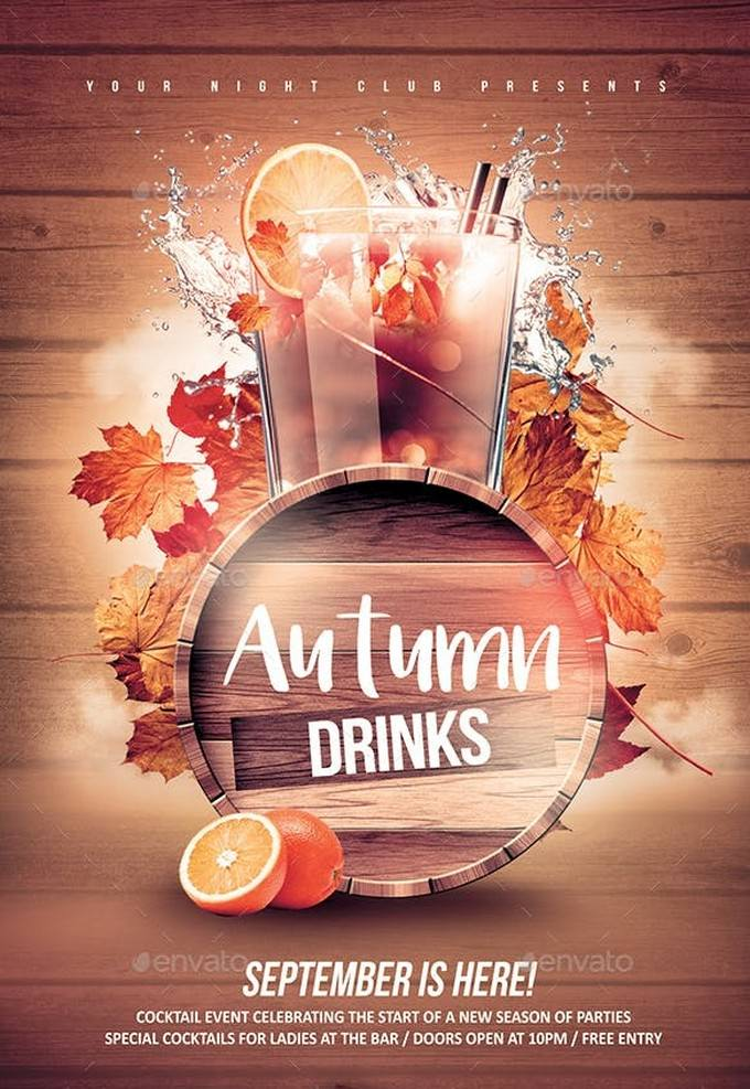 Autumn Drinks Flyer