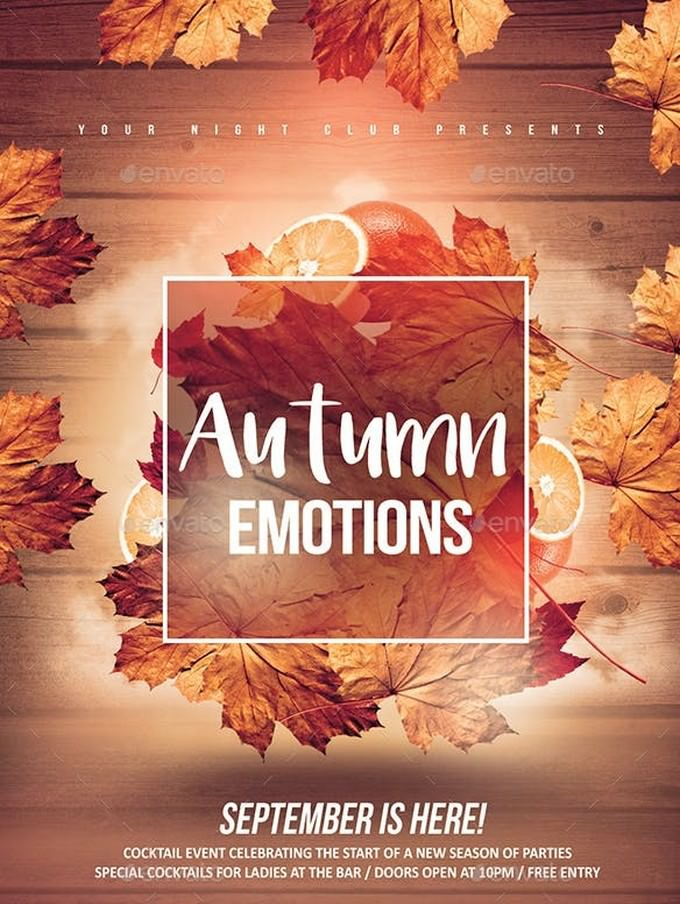 Autumn Emotions Flyer Template