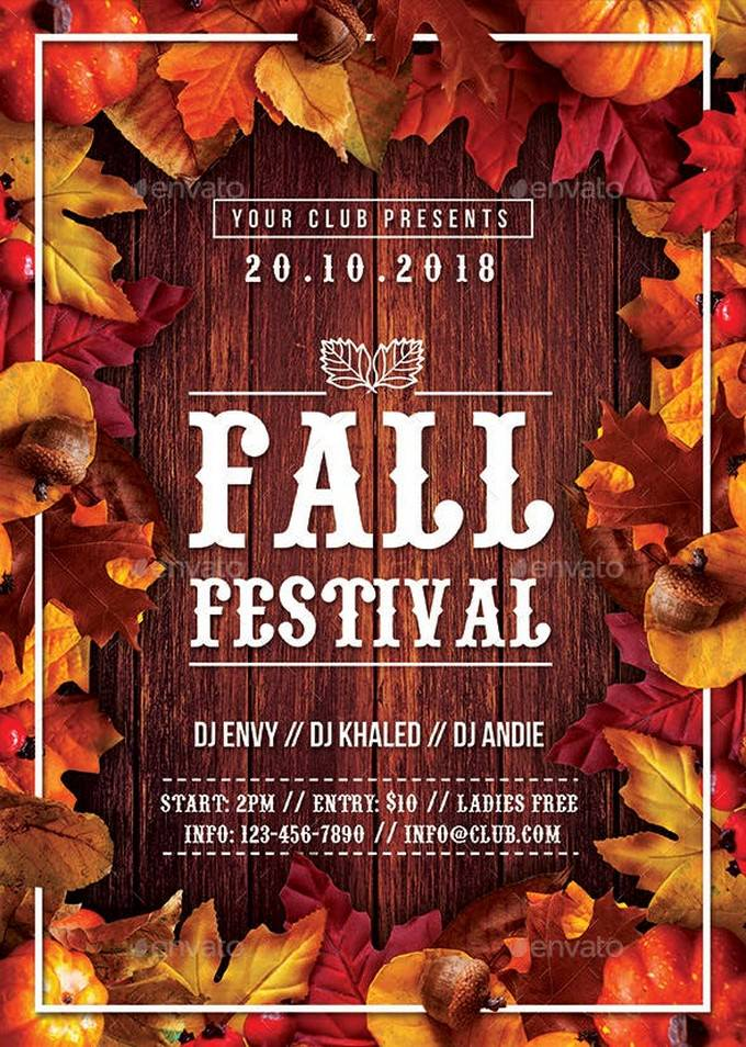 Autumn Fall Festival Flyer