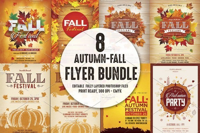 Autumn Fall Flyer Bundle