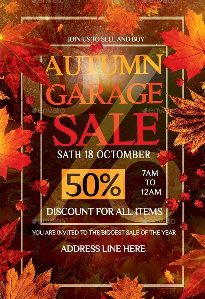 Autumn Garage Sale Flyer