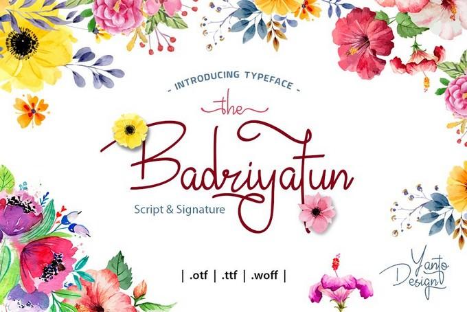 Badriyatun Luxury Signature Font