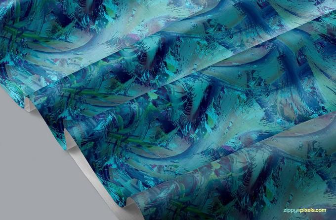 Beautiful Fabric Mockup PSD Free