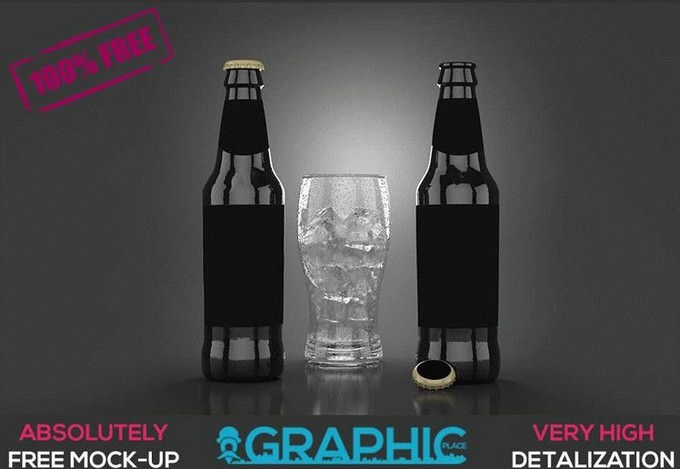 Beer Bottle – Free PSD Mockup