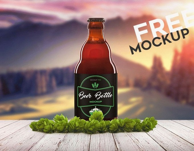 Beer Bottle 2 PSD Mockup