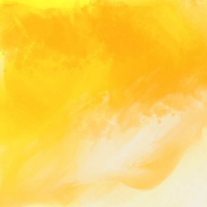 Bright Yellow Watercolor Background