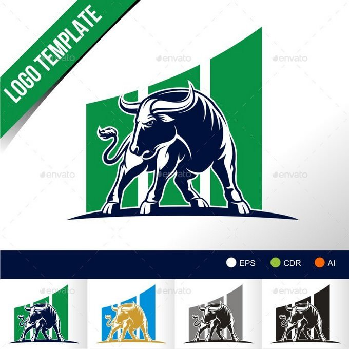 Bull Investment Logo Template