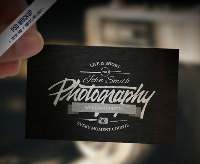 Business Card Mockup Retro Style