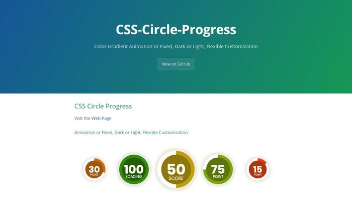 CSS Circle Progress